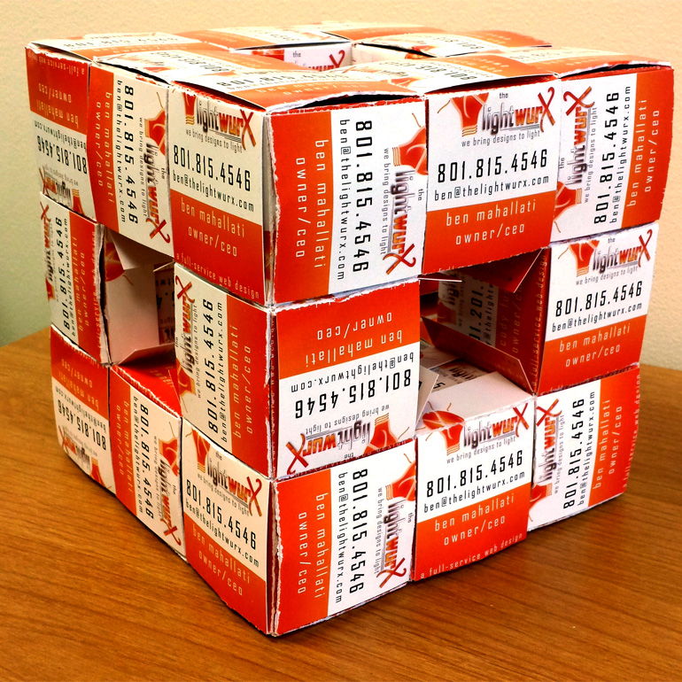 What to do with your old business cards cubed